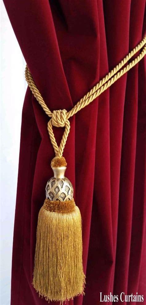 drapery cord tassel gold decorative window curtain drapery wood tassel rope