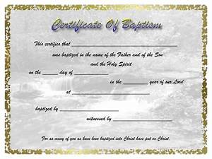 Water baptism certificates for Water baptism certificates