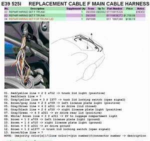 Bmw E36 Trunk Wiring Diagram