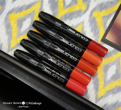buy l shades online india new colorbar take me as i am lip crayon swatches shades