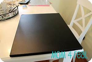 canvas chalkboard w vinyl letters mom 4 real With vinyl lettering that looks like chalk