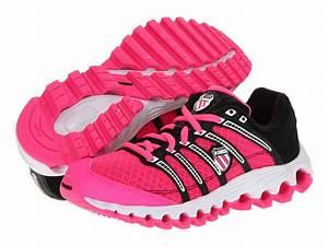 K Swiss Kids Tubes Run 100 Mesh Big Kid Neon Pink Black