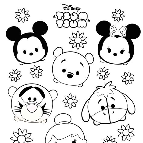 tsum tsum coloring pages printable  getcoloringscom