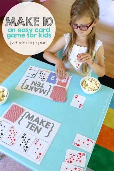 Make Ten Card Game With Free Printable Play Mat