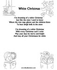 White Christmas Lyrics Printable