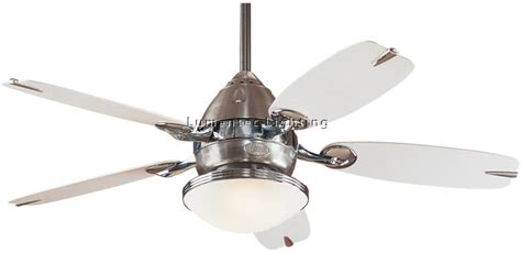 Brushed Nickel Ceiling Fans With White Blades by Hun0014 The Retro Ceiling Five Blade Ceiling Fan In White