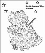 Coloring Barbie Singer Printable Coloringpagesfortoddlers Flowers Fun Cool Sing sketch template