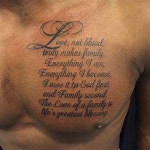101 Best Family... Chest Tattoo Love Quotes