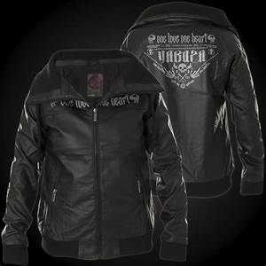 yakuza jacket one love gjb 10132 with a skull and lettering With leather jacket lettering