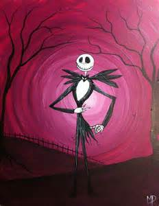 Nightmare Before Christmas Acrylic Canvas Painting