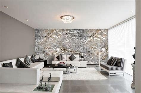 tapeten wohnzimmer modern grau haus ideen
