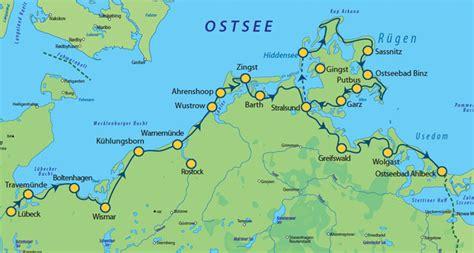Fahrradwege Rügen Karte