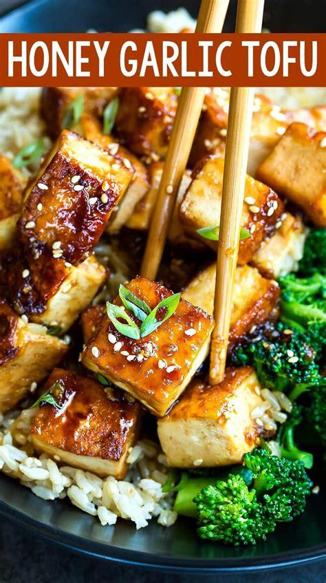 The next three varieties are all a form of pressed. Honey Garlic Tofu | Recipe (With images) | Tofu recipes healthy, Tofu recipes vegan, Tofu dinner ...