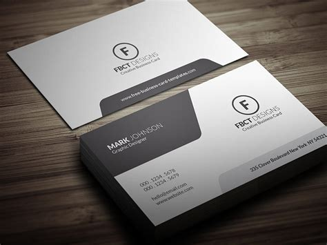clean monochrome business card template