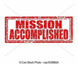 Vector Illustration of Mission accomplished-stamp - Grunge ...