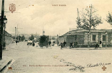 tout tramway porte de romainville et des lilas en 1900 cartes postales anciennes