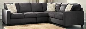 Grey sectional sofa bobkona dervon reversible sectional for Ditto grey sectional sofa