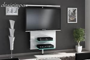 Tv Wand Modern : tv wand h 999 wei hochglanz drehbar tv rack lcd inkl tv ~ Michelbontemps.com Haus und Dekorationen