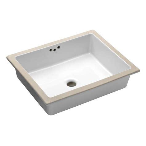 kitchen sink overflow pipe kohler kathryn vitreous china undermount bathroom sink in