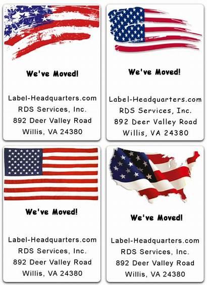 Patriotic Labels Label Sheet