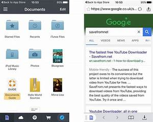 How to download youtube to iphone ipad tech advisor for Documents app to download youtube