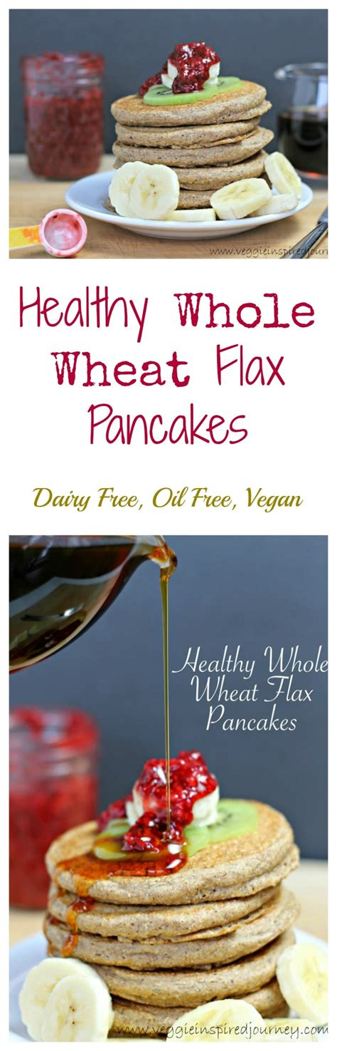 healthy  wheat flax pancakes veggie inspired