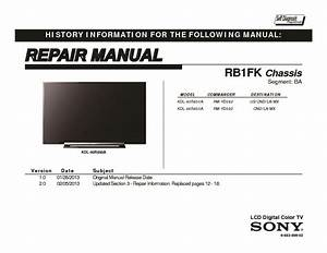 Sony Kdl-40r450a  Kdl-46r450a Service Manual