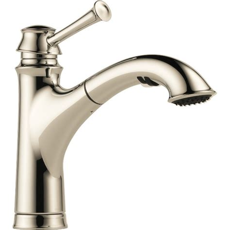 buy brizo lf single handle pull  kitchen faucet