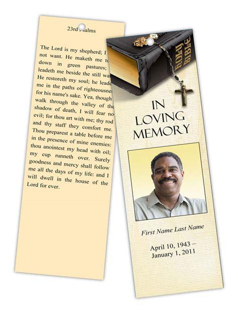 bible memories memorial bookmark template elegant memorials