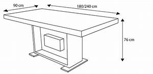 Table a manger hauteur 90 cm for Salle À manger contemporaineavec hauteur table salle À manger