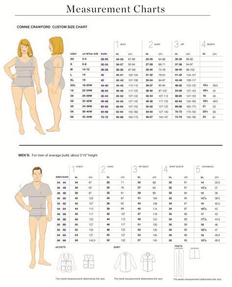 Metric Size Chart Measurements