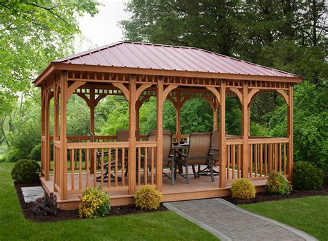 gazebo wooden wood berlin gardens wood rectangle gazebo