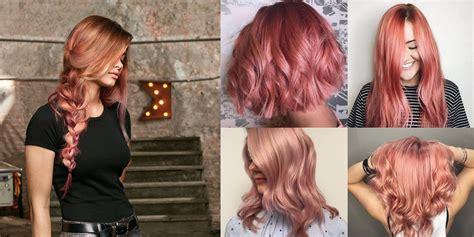 ways  rock rose gold hair color  summer