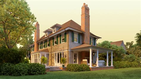 House Style : Shingle Style Home Plans By David Neff