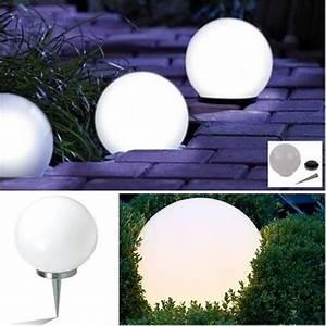 Boule Led Exterieur : lampe boule 20 cm solaire design achat vente lampe boule 20 cm solaire d cdiscount ~ Teatrodelosmanantiales.com Idées de Décoration