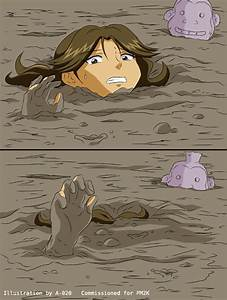 Jungle Girl Sinks in Quicksand #3 by A-020 on DeviantArt