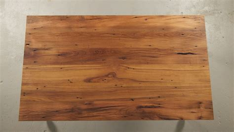 top view  reclaimed wood table oak customize