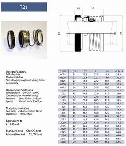 Details About 1 U0026quot  Type T21 Mechanical Seal  Aes P04  Pac151