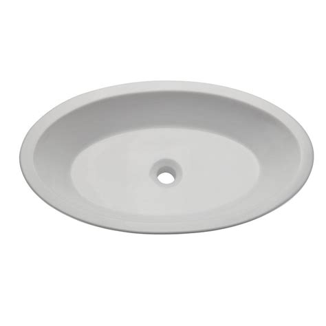 home depot white vessel sink ryvyr vessel sink in white cve3151rc the home depot