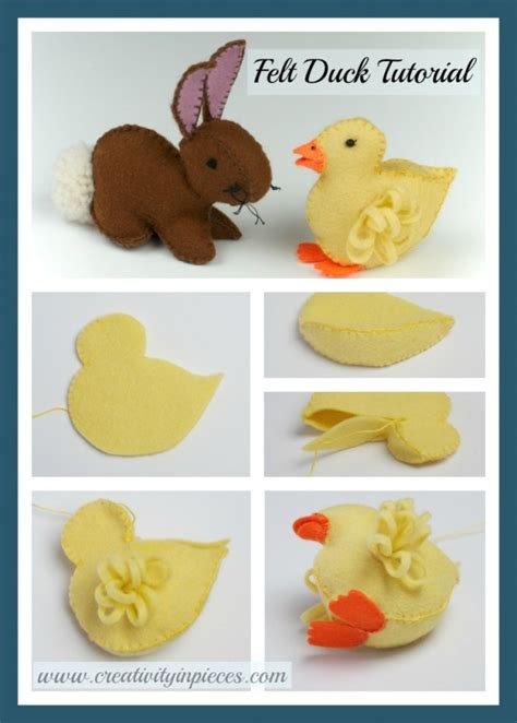 felt duckling  easter bunny template  tutorials