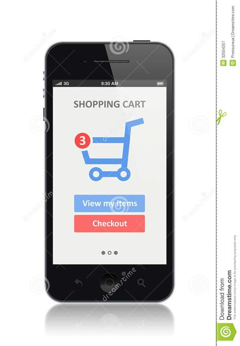 modern smartphone e commerce app on modern smartphone royalty free stock
