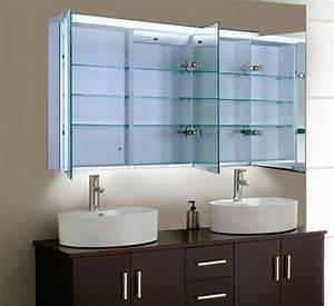 Bad Spiegelschrank Mit Beleuchtung : 44 modelle spiegelschrank f rs bad mit beleuchtung ~ Lateststills.com Haus und Dekorationen