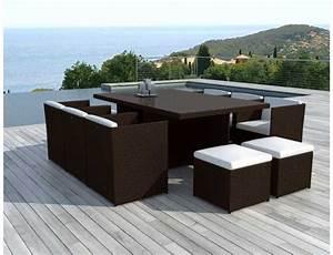 Table De Jardin Tressé : mobilier de jardin tresse resine l 39 univers du jardin ~ Teatrodelosmanantiales.com Idées de Décoration
