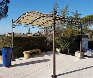 beautiful pergola en fer forge pour terrasse images With pergola en fer forge pour terrasse