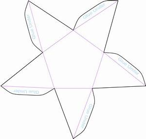 pentagonal pyramid model template layout fold design With geometry net templates