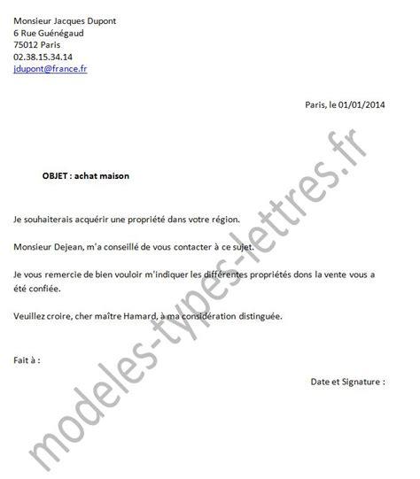 mod 232 le de lettre lors de l achat d une maison chez le notaire