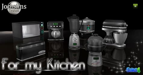kitchen set  jomsims creations sims  updates