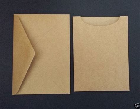 25 Kraft Brown Vintage Wedding Invitations Diy Pocketfold
