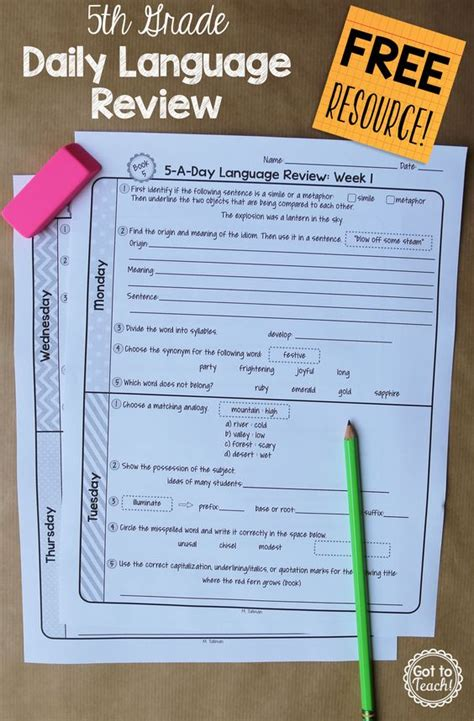 daily grammar practice 5th grade worksheets daily