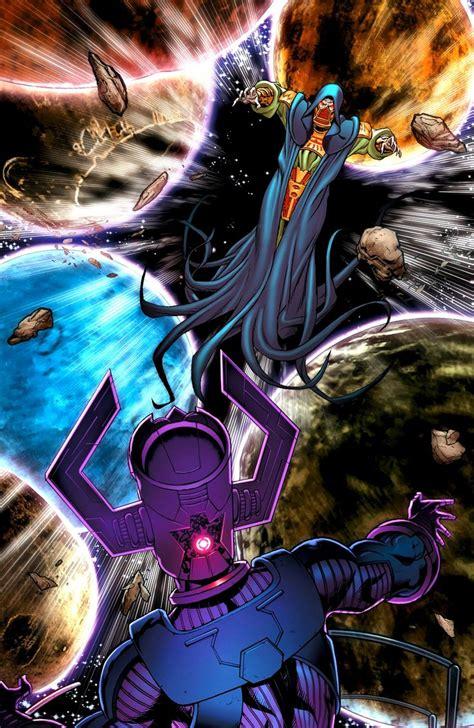 Galactus vs. Scrier by Richard Elson